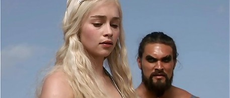 game of thrones , deneris targarian and khal drago sex scene