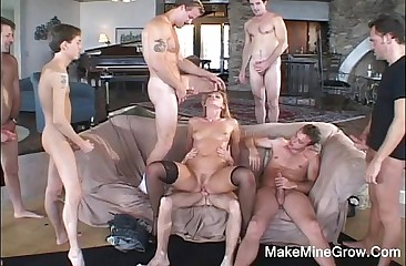 Lauren Phoenix gets hard gangbang