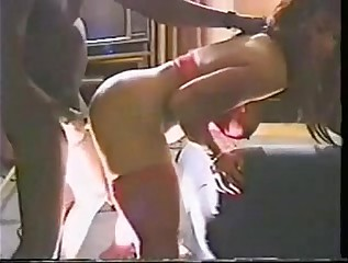 Racquel interracial gangbang 1 - Using all her holes