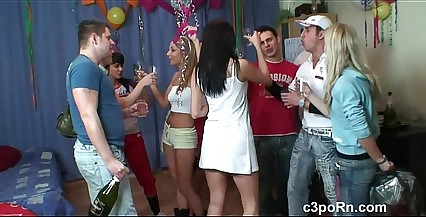 Beautiful College Teen group Sex after Party