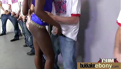Interracial bukkake sex with black porn star 6