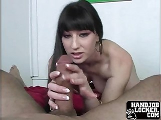 Latina double handjob