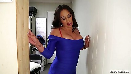 Busty Latina Gloryhole Handjob