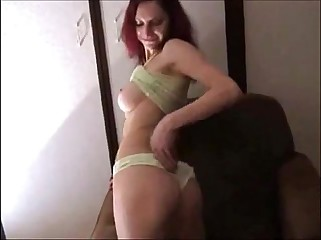 gorgeous redhead getting anal on homemade