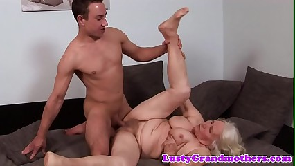 Hugetits granny loves getting pounded