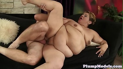 Plussize lady fucked perfectly by hard cock