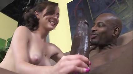 Interracial loving slut hard fuck and blowjob
