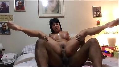 Brunette Mature Babe Interracial Anal Sex