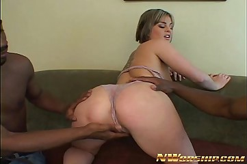 big ass blonde hot interracial anal theesome fuck