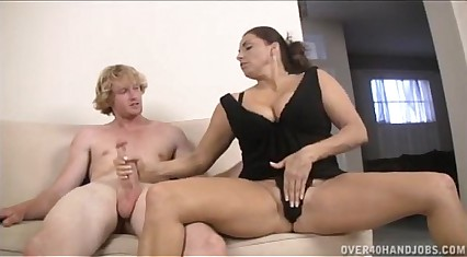 Teen And Milf Double Handjob