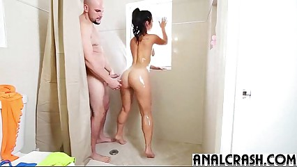 (kelsi monroe) Teen Naughty Girl In Her 1st Deep Anal Scene clip-17