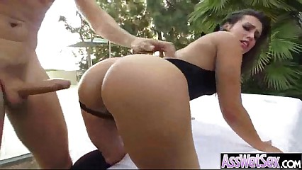 Big Ass Girl (kelsi monroe) Get Oiled And Hard Anal Nailed On Camera movie-13