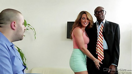 Savannah Fox Trying A Black Cock