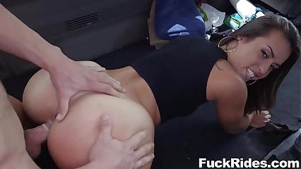 Kelsi Monroe in the Bus
