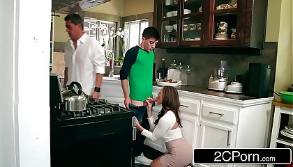 Horny MILF Kendra Lust Can't Help Fucking Her Daughter's Boyfriend
