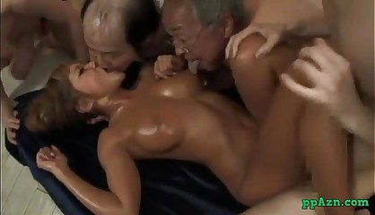 Hot Tanned Asian Girl Fucked By Guy While Kissing With Ugly Men Cum To Mouth Sti