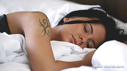 Cute Teen Mia Manarote Gets Woken Up By a Hard Cock