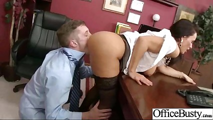 Lovely Worker Slut Girl (lisa ann) With Round Big Boobs Bang In Office clip-25