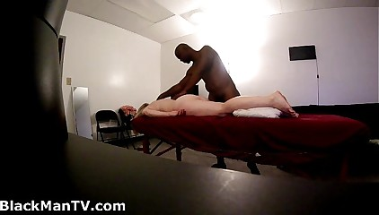 Blonde soccer mom gets BlackManMassage (Hidden Cam)
