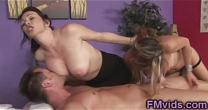 Busty MILFs give amazing massage