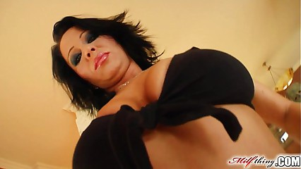 Milf Thing MILF Threesome for cock loving mature chick Andrea Black