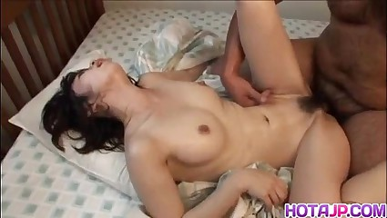 Japanese milf is fucked with fingers and cock