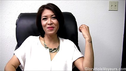 Asian Milf Gloryhole Interview Blowjob