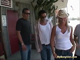 Milf picked up for gangbang
