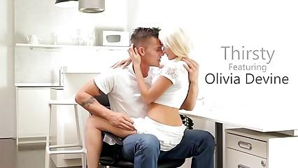 Blonde Olivia Devine Rides a Hard Dick - EroticVideosHD.com