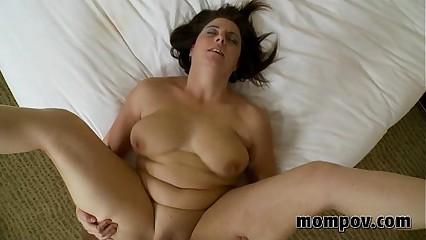 brunette milf fucks and sucks