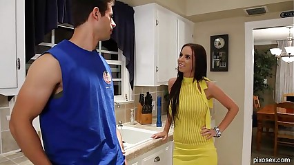 Big Tit Brunette Pornstar Brandy Aniston Gets Fucked In Her Yellow Dress