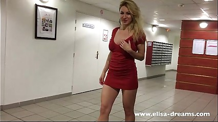 Flashing my pussy, butt and tits in a hotel