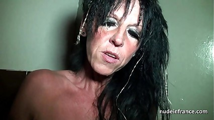 Big boobed amateur french mom hard banged in a sex-shop basement