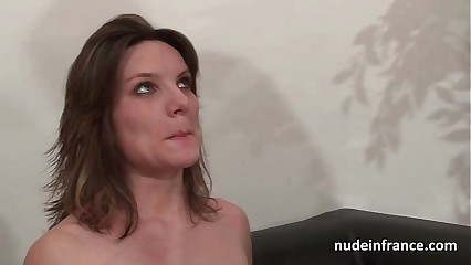 Casting couch of a pretty small titted french brunette analized by her boyfriend