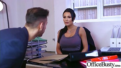 (Patty Michova) Sexy Big Tits Office Girl Love Hard Sex clip-27