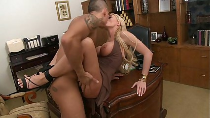 Stacey Saran - AMWF office sex with Asian guy