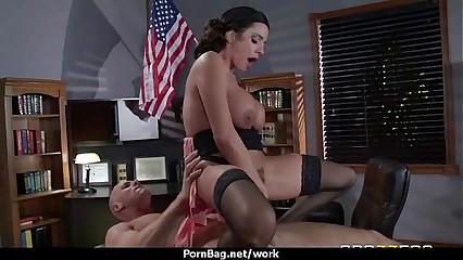 Busty hottie has hardcore office affair 27