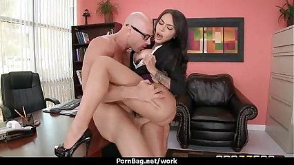 Submissive office busty assistant finally fucks her boss 20