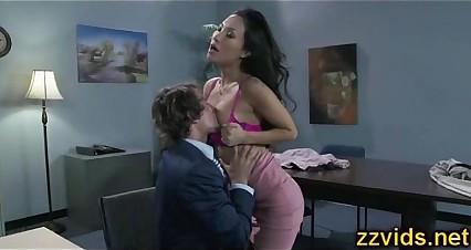 Sexy asian Asa Akira office fucking