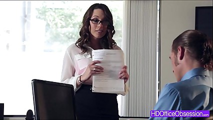 Horny babe Jade Nile gets fucked hard by her boss inside the office