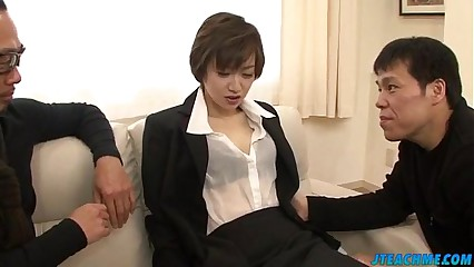 Great office xxx play for lustful Akina Hara