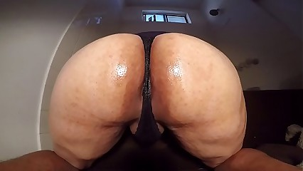 husbands ass oiled up in thong