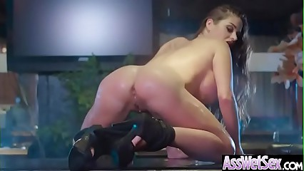 Hardcore Anal Sex With Big Butt Oiled Up Sluty Girl (Cathy Heaven) video-14