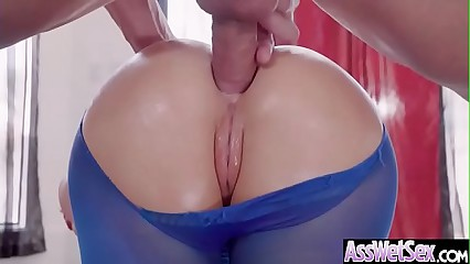 (Nikki Benz) Big Oiled Ass Slut Girl Love Hardcore Deep Anal Sex clip-25