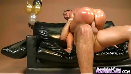 Slut Girl (nikki benz) With Big Ass Get Oiled And Anal Banged mov-26
