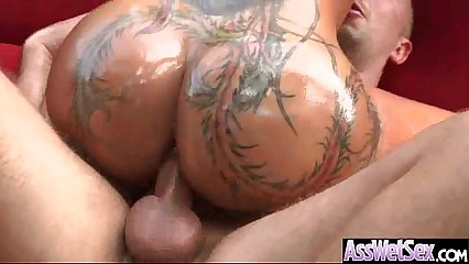 Naughty Girl (bella bellz) With Big Round Oiled Butt Take It Deep In Her Ass  clip-07
