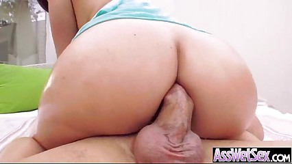 Big Oiled Wet Butt Girl Get Nailed Deep In Her Ass clip-18
