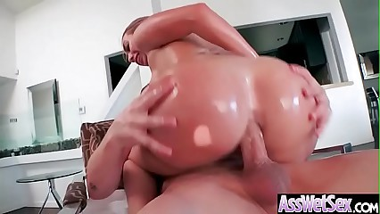 Hot Oiled Girl (Kat Dior) With Huge Ass Enjoy Anal Sex vid-19