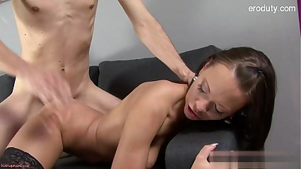 Horny girlfriend brutal anal orgasm