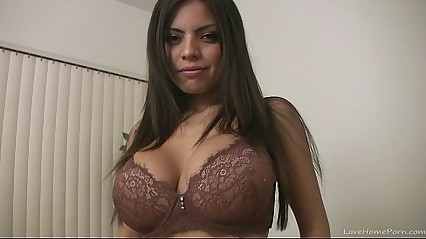 Busty broad screams when she reaches an orgasm
